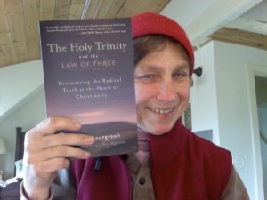Cynthia with Holy Trinity book