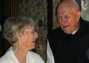 Margaret Haines and Fr. Thomas Keating 2007