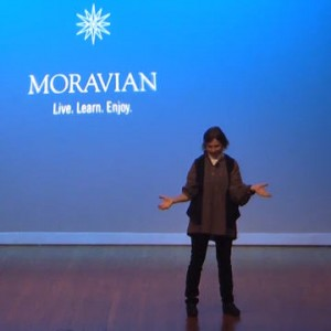 Cynthia at Moravian Lecture Nov 2013