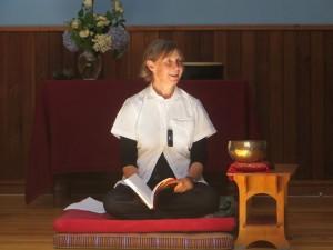 Cynthia at Holy Isle Wisdom School - Photo  by Gus MacLeod