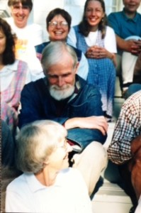 Bruno Barnhart with members of The Contemplative Society - Salt Spring Island Contemplative Centre, July 2000