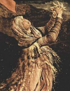 Mary Magdalene praying