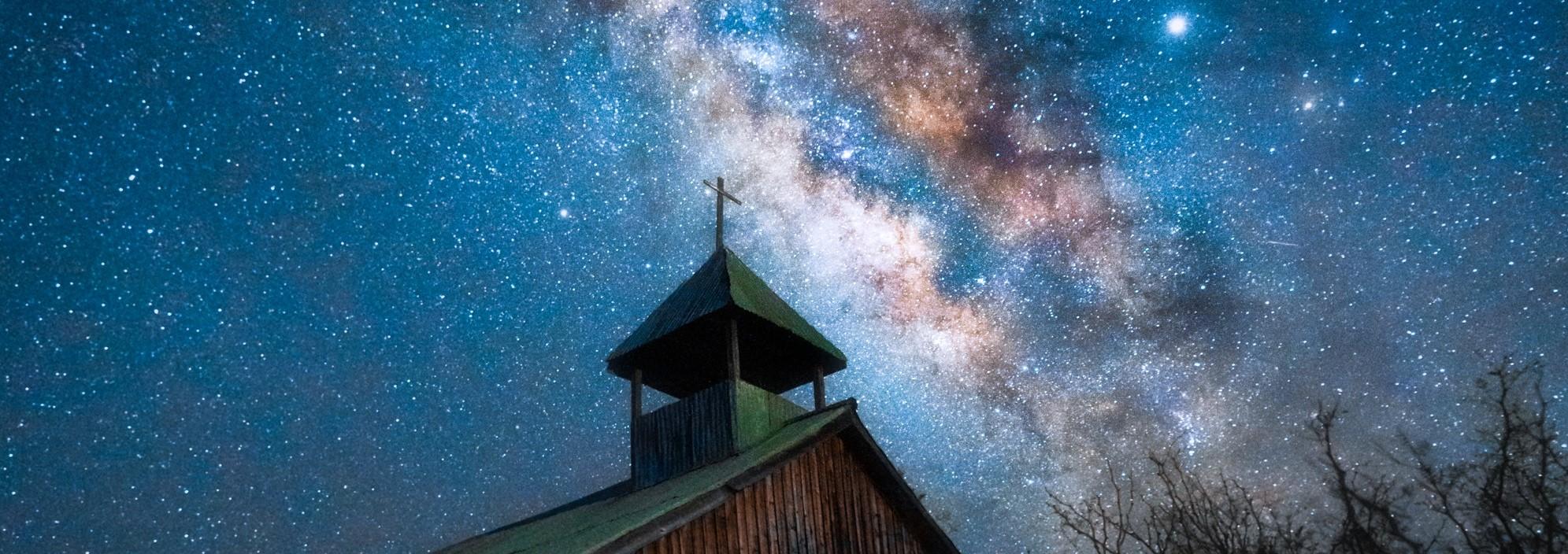 steeple night sky
